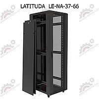 Шкаф серверный напольный LATITUDA 37U, 600*600*1738,5мм, цвет черный, передняя дверь стеклянная