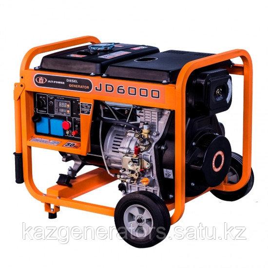Дизельный профессиональный генератор KG Power JD7000 6kW в открытом исполнени