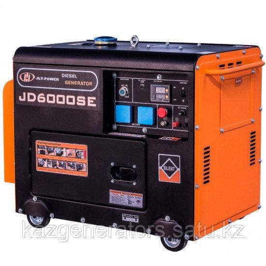 Дизельный профессиональный генератор KG Power JD7000 6 kW в кожухе