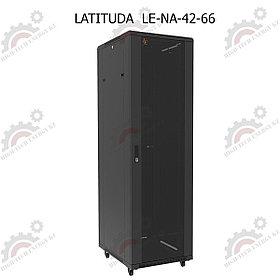 Шкаф серверный напольный LATITUDA 42U, 600*600*1958мм, цвет черный, передняя дверь стеклянная