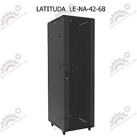 Шкаф серверный напольный LATITUDA 42U, 600*800*1958мм, цвет черный, передняя дверь стеклянная