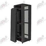 Шкаф серверный напольный LATITUDA 42U, 600*1000*1958мм, цвет черный, передняя дверь стеклянная, фото 2