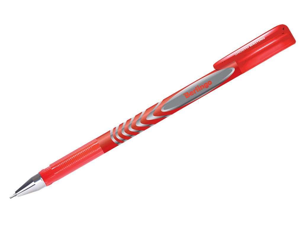 "Ручка гелевая BERLINGO ""G-Line"" 0,5 мм, красная"