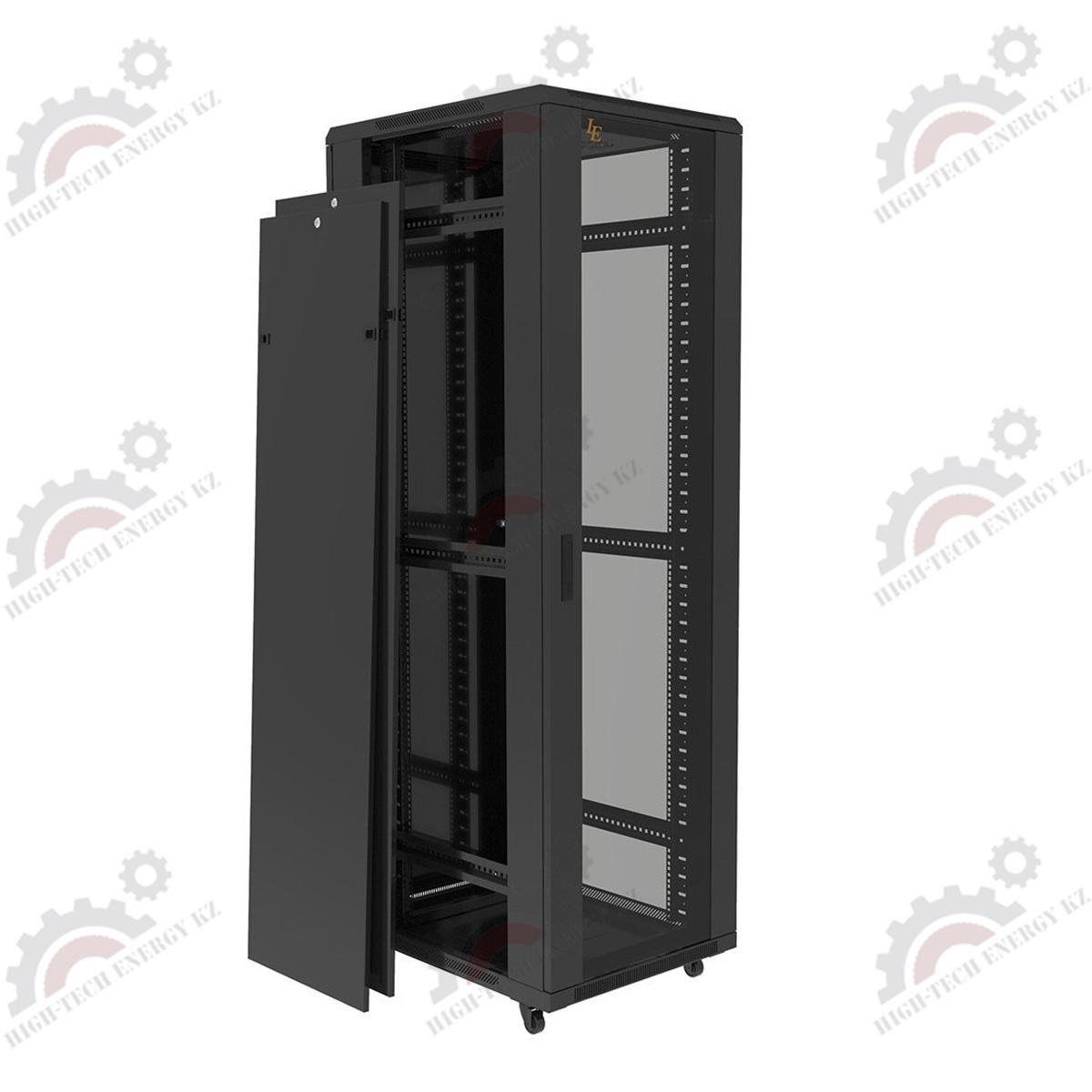 Шкаф серверный напольный LATITUDA 42U, 800*800*1958мм, цвет черный, передняя дверь стеклянная