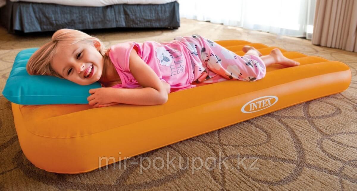 Матрас детский надувной Intex Cozy Kids Airbed 66801, 157х88х18 см + надувная подушка