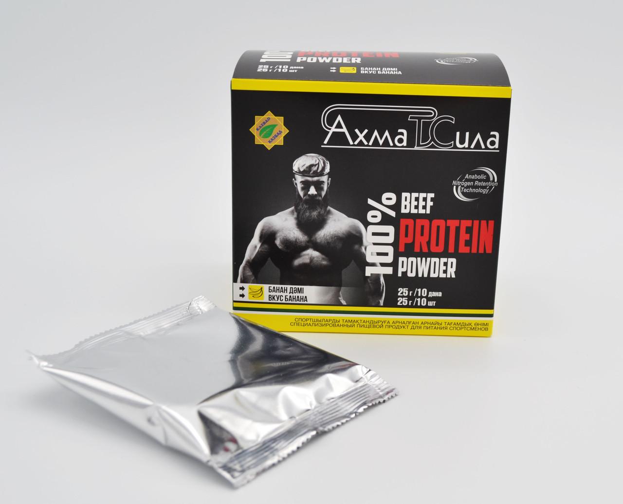 """""""АхматСила"""" халал протеин  банан  25гр по 10шт"""