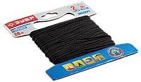 Шнур полиамидный, плетеный с сердечником, 2 мм x 20 м, черный, серия «ЭКСПЕРТ», ЗУБР