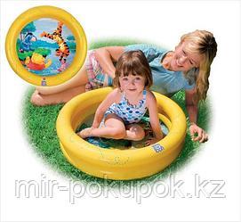 Яркий надувной бассейн для малышей желтый Винни Пух 61х15 см, Intex 58922