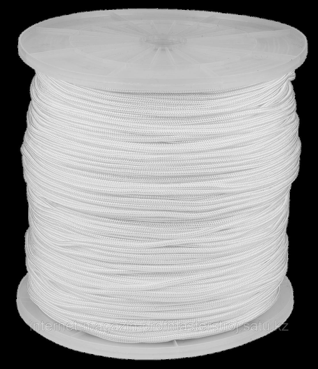 Шнур полиамидный плетеный, 5 мм x 700 м, белый, серия «МАСТЕР», STAYER