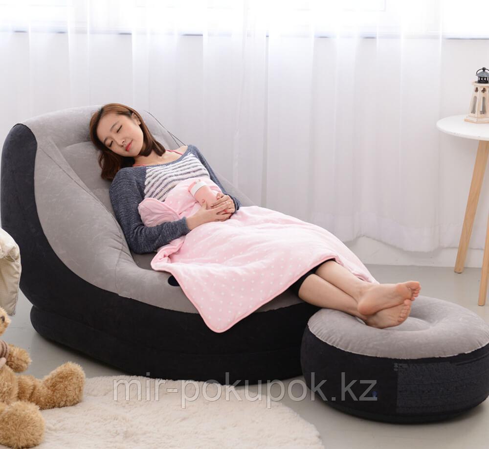 Надувное кресло с пуфиком Intex 68564 Ultra Lounge (99x130x76 см)