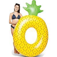 Огромный желтый надувной круг АНАНАС, плот для взрослых, пляжный матрас- АНАНАС