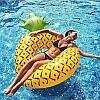 Огромный желтый надувной круг АНАНАС, плот для взрослых, пляжный матрас- АНАНАС, фото 3