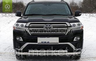 Защита переднего бампера двойная для Toyota Land Cruiser 200 ( Executive 2016-)