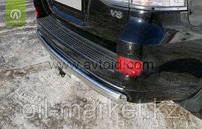 Защита заднего бампера короткая овальная для Toyota Land Cruiser 200 ( Executive 2016-), фото 2