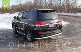 Защита заднего бампера длинная для Toyota Land Cruiser 200 ( Executive 2016-)