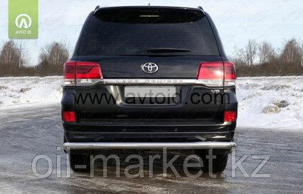 Защита заднего бампера длинная для Toyota Land Cruiser 200 ( Executive 2016-), фото 2