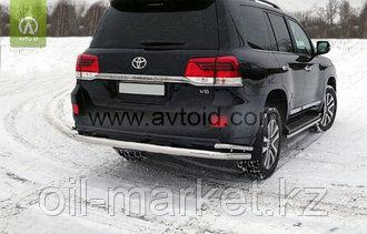 Защита заднего бампера длинная с уголками для Toyota Land Cruiser 200 ( Executive 2016-)