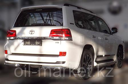 Защита заднего бампера уголки одинарные для Toyota Land Cruiser 200 ( Executive 2016-), фото 2