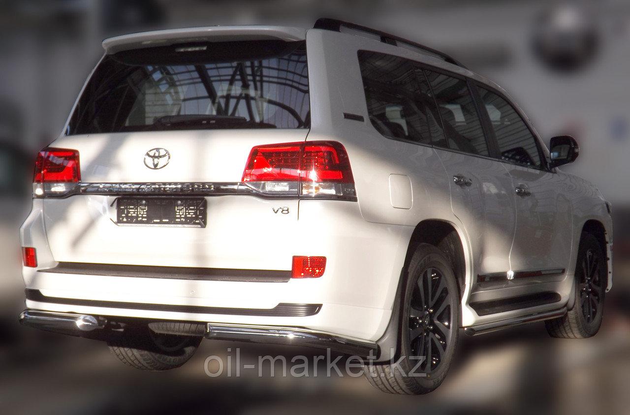 Защита заднего бампера уголки одинарные для Toyota Land Cruiser 200 ( Executive 2016-)