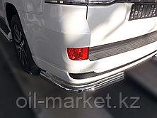 Защита заднего бампера уголки одинарные для Toyota Land Cruiser 200 ( Executive 2016-), фото 3