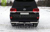 Защита заднего бампера уголки двойные для Toyota Land Cruiser 200 ( Executive 2016-), фото 2