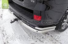 Защита заднего бампера уголки двойные для Toyota Land Cruiser 200 ( Executive 2016-), фото 3