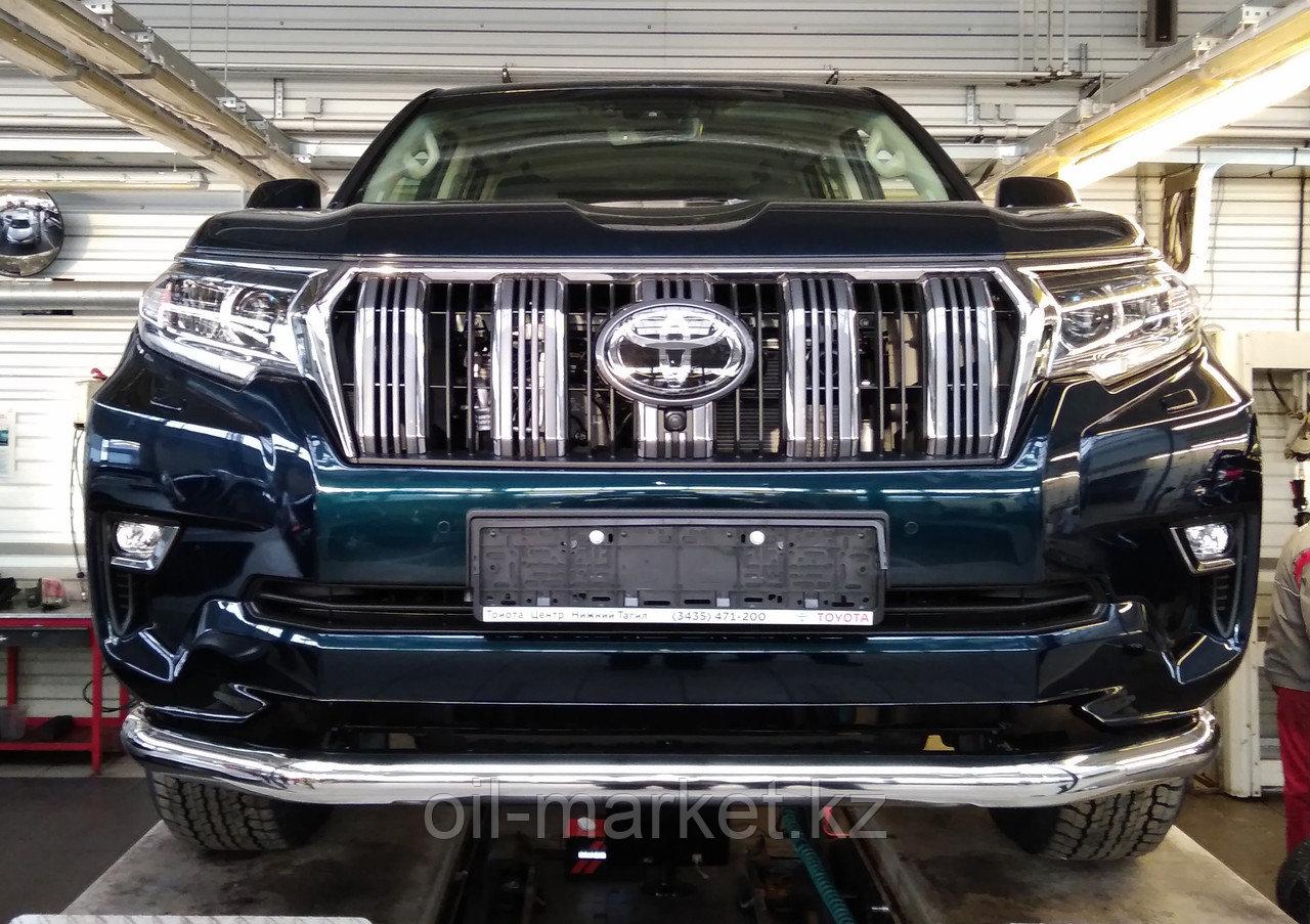 Защита переднего бампера длинная для Toyota Land Cruiser Prado 150 (2017г-)