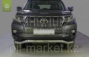 Защита переднего бампера волна для Toyota Land Cruiser Prado 150 (2017г-), фото 2