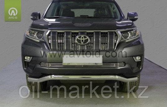 Защита переднего бампера волна для Toyota Land Cruiser Prado 150 (2017г-)
