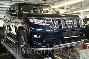 Защита переднего бампера двойная для Toyota Land Cruiser Prado 150 (2017г-), фото 2