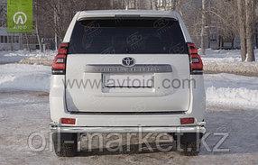 Защита заднего бампера длинная с уголками для Toyota Land Cruiser Prado 150 (2017г-), фото 2