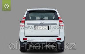 Защита заднего бампера короткая овальная для Toyota Land Cruiser Prado 150 (2017г-), фото 2