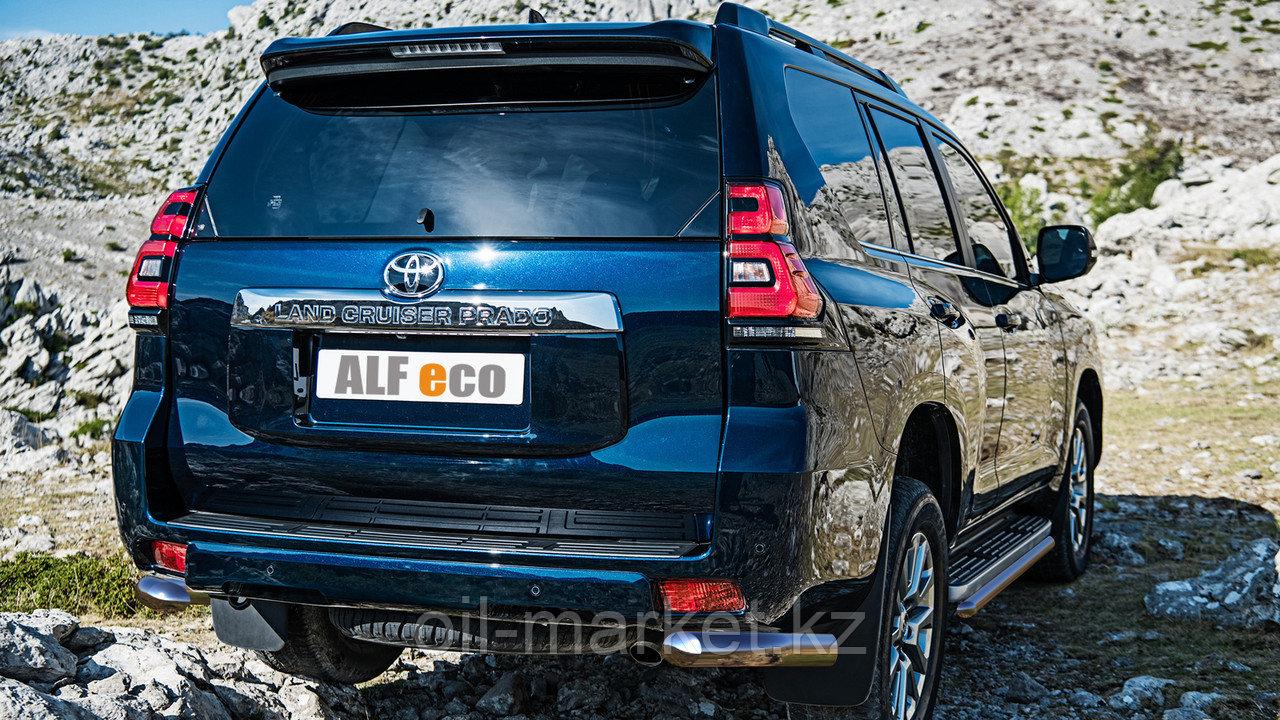 Защита заднего уголки одинарные для Toyota Land Cruiser Prado 150 (2017г-)