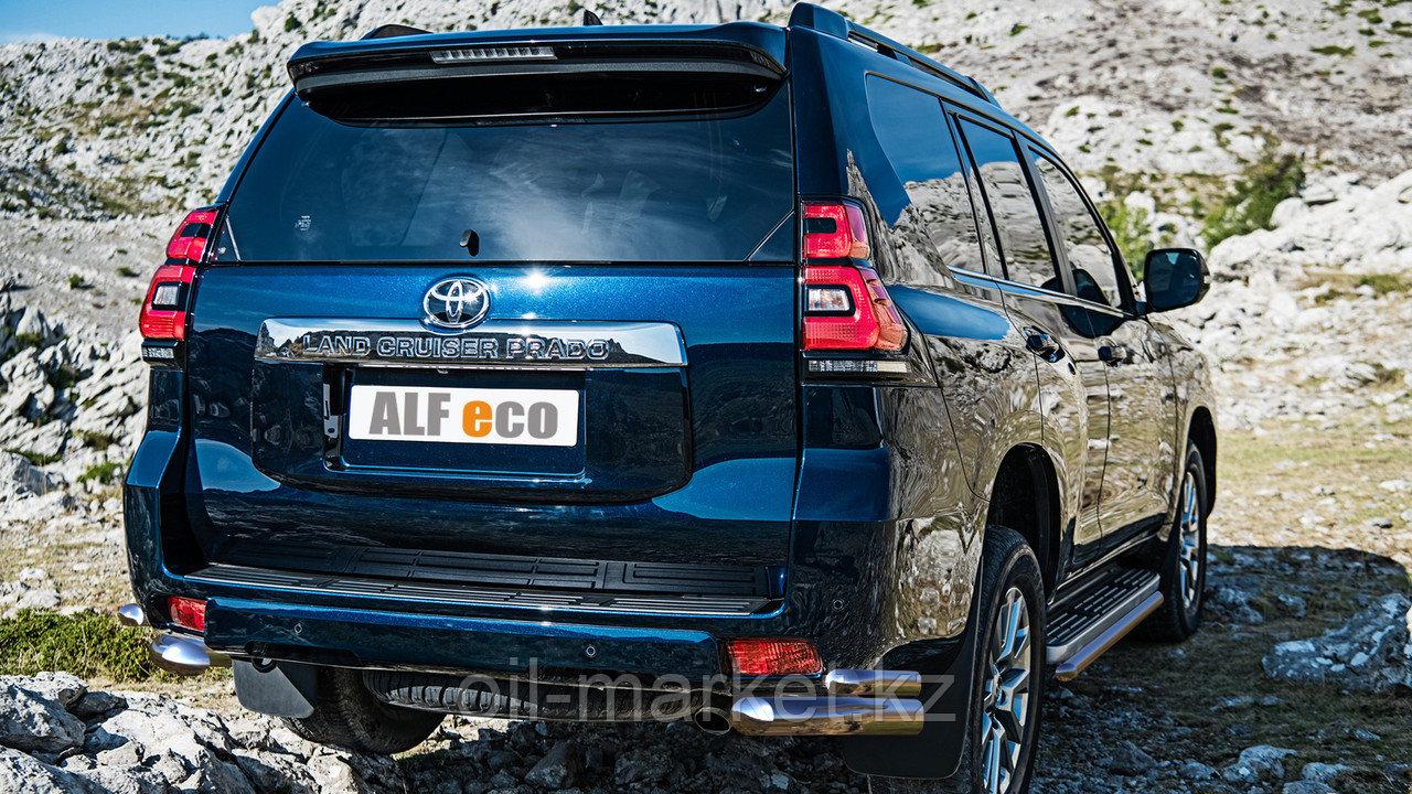 Защита заднего уголки двойные для Toyota Land Cruiser Prado 150 (2017г-)