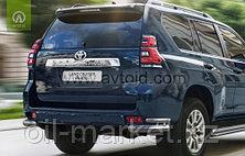 Защита заднего уголки двойные для Toyota Land Cruiser Prado 150 (2017г-), фото 3