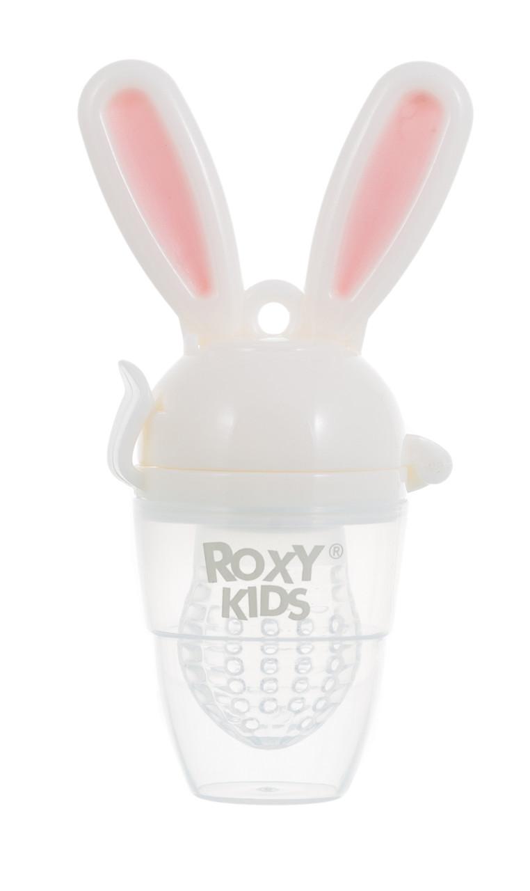 Ниблер для прикорма малышей Bunny Twist с силиконовой сеточкой. Цвет розовый - фото 1