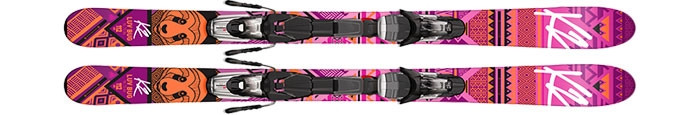 K2  лыжи горные Luv Bug fastrak 4.5