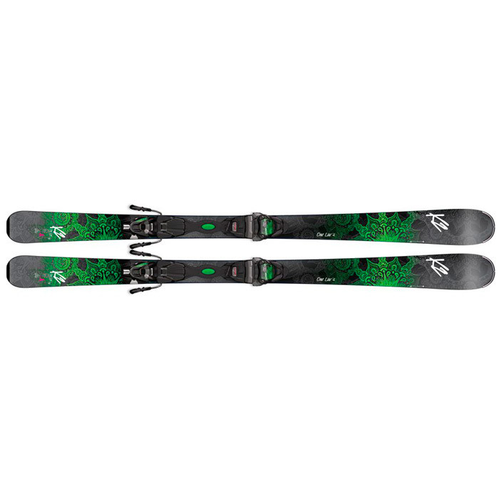 K2  лыжи горные One Luv 74 ER3 10 Compact Quikclik black-green