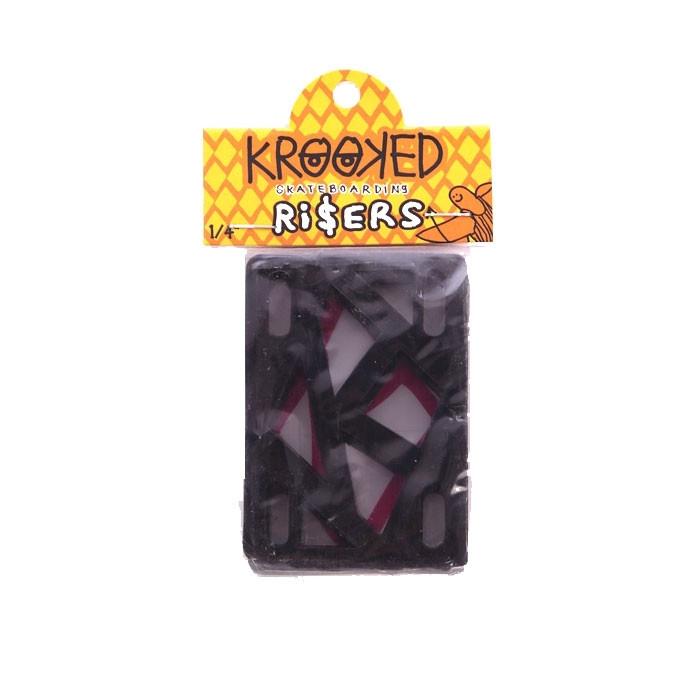 Deluxe  подкладки п/трак Krooked  Riser 1/4 IN-black