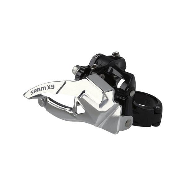 Sram  передний переключатель  X-9 2x10 High Clamp 34.9 Dual Pull