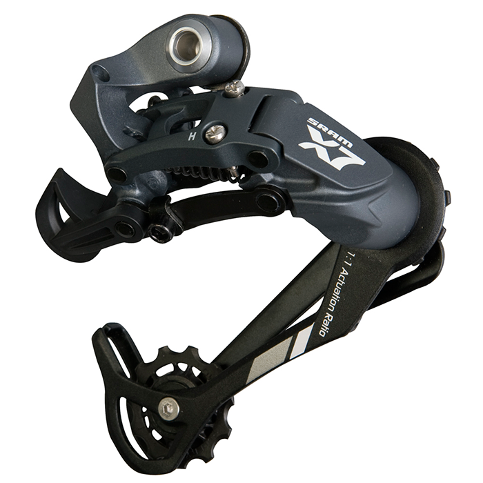 Sram  задний переключатель   X-7 9-speed Long Cage Aluminum Storm Grey