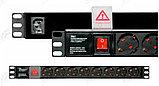 """LinkBasic CFU08-D-H1.5U-2.0 панель питания 19"""" на 8 розеток, немецкий стандарт, 2х метровый кабель, фото 3"""
