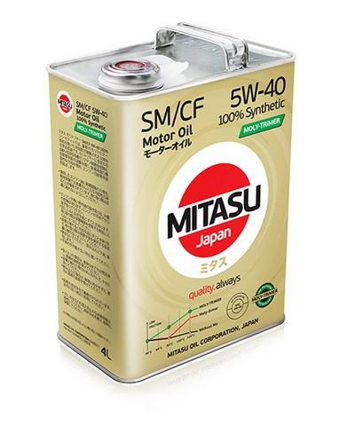 Синтетическое моторное масло MITASU SM/CF 5W-40 Synthetic 4L