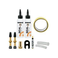 SKS  комплект флипперов,нипелей и жидкости для безкамерных покрышок 29mm
