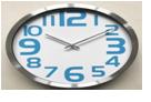 Часы настенные алюминиевые (d.30 см). Цвет синий/серый