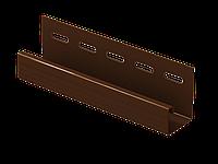 Отделочная рейка (планка J) (коричневый) 3,05м