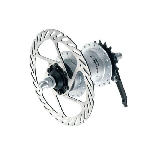 Sram  задняя  втулка i-3 freewheel/disc brake 32H 135 OLD 178 axle silver