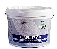 Грунтовка акриловая  «КВАРЦ-ГРУНТ» GRAND VICTORY для пола, стен и потолков, цвет белый 10 кг
