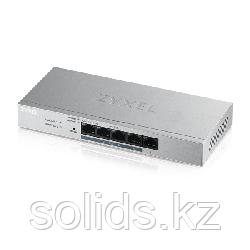 Smart коммутатор PoE+ Zyxel GS1200-5HP, 5xGE (4xPoE+), настольный, бесшумный, бюджет PoE 60 Вт, шт