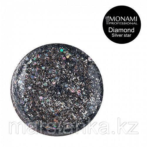 Гель-лак Monami Diamond Silver Star, 5гр (платиновый)
